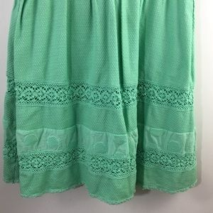 Jessica Simpson Dresses - Jessica Simpson Crochet Mint fit flare dress 6